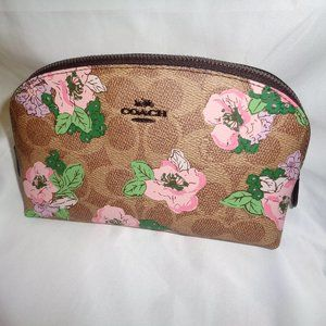 Coach 89656 Signature Blossom Print Cosmetic Case